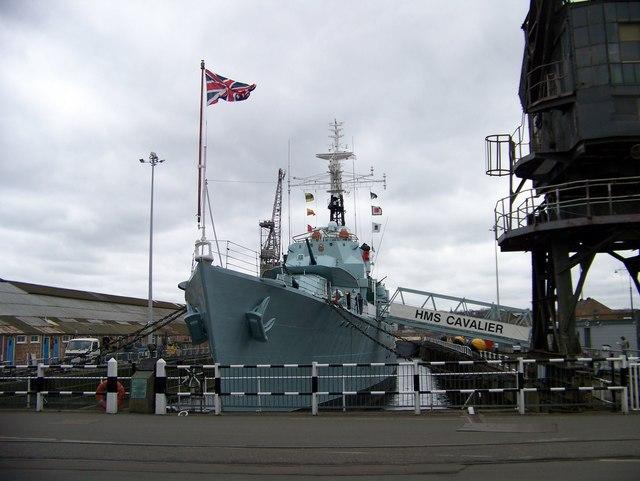 HMS Cavalier - destroyer at Chatham Dockyard