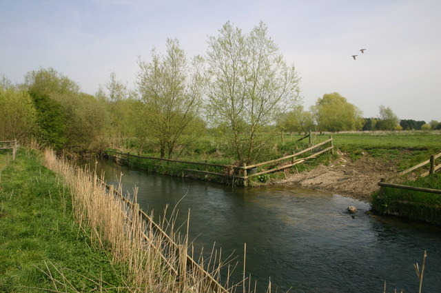 The River Thame with watering gap