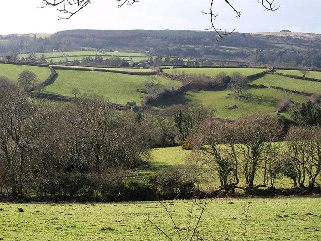 Landscape below Meldon Common