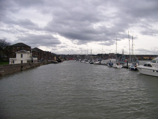 The view up the Medway from the paddle steamer pier