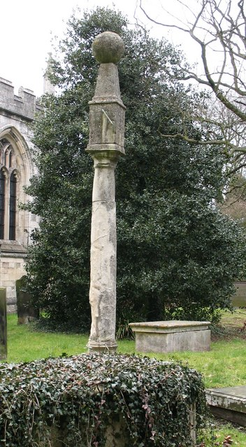 Sundial in Bolton Percy churchyard