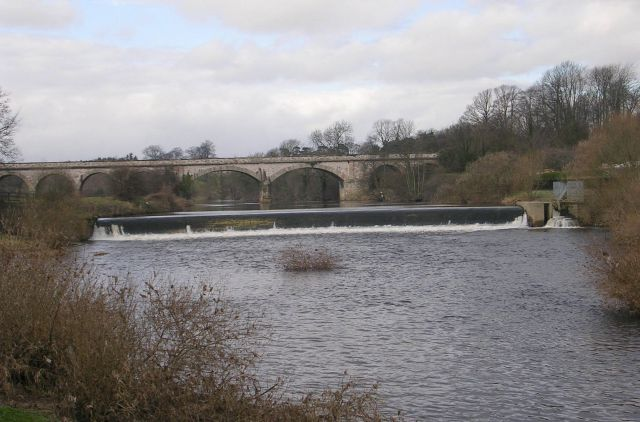 River Wharfe, Weir and Viaduct