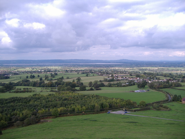 View from Cam Peak towards Ashmead Green.