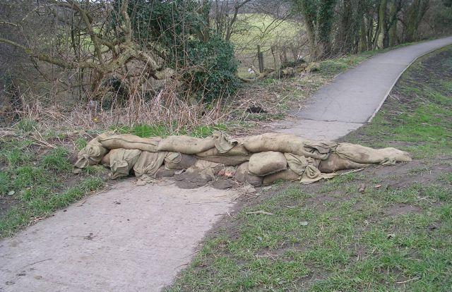 Flood Defences on Riverside Footpath