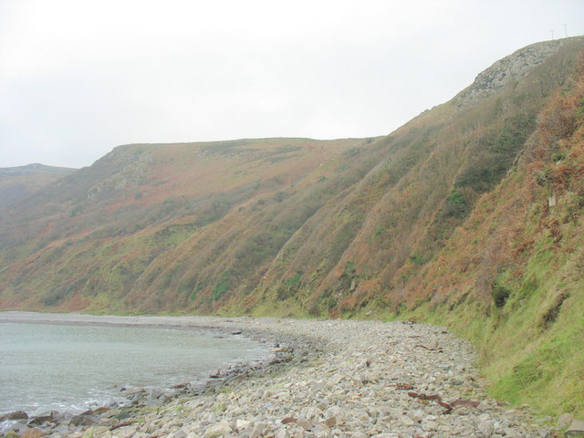 Shingle beach east of Penrhyn Glas