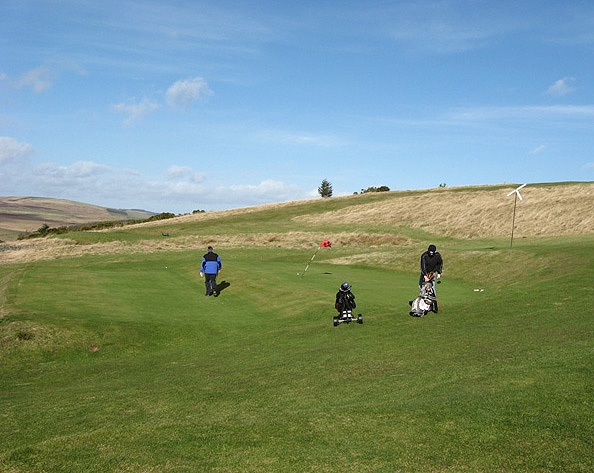 On the 10th green at Galashiels Golf Course
