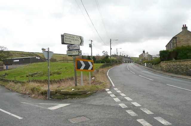 Dunford Road at Cross, Holmfirth