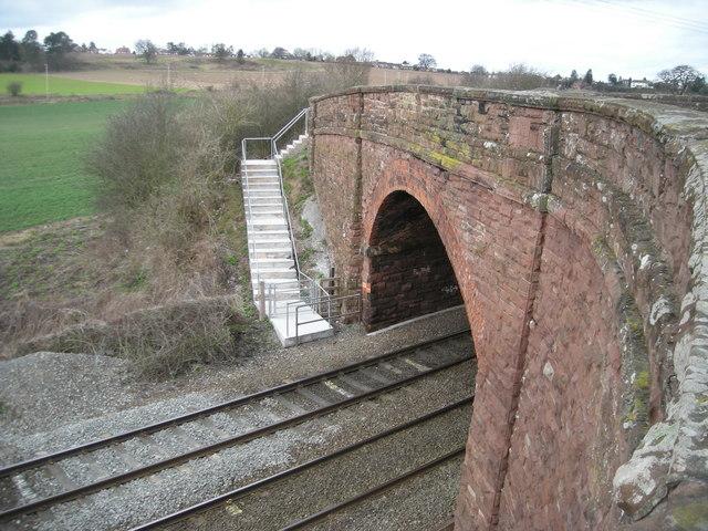 Railway bridge near Bayston Hill
