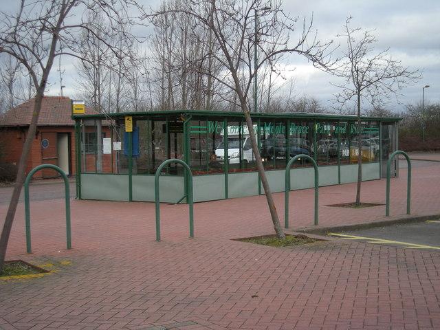 Meole Brace Park & Ride Bus-Stop.