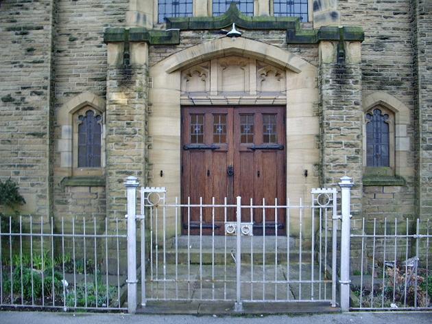 Sefton Road United Reformed Church, Morecambe, Doorway