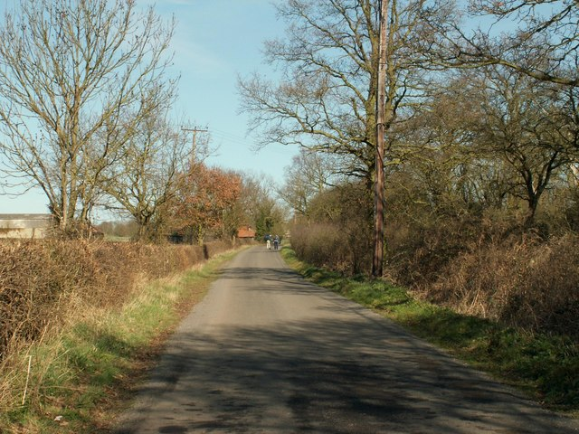 Sporehams Lane on the approach to Danbury