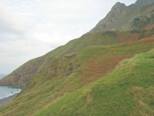 View along the top of the boulder clay cliffs towards Trwyn-y-Gorlech