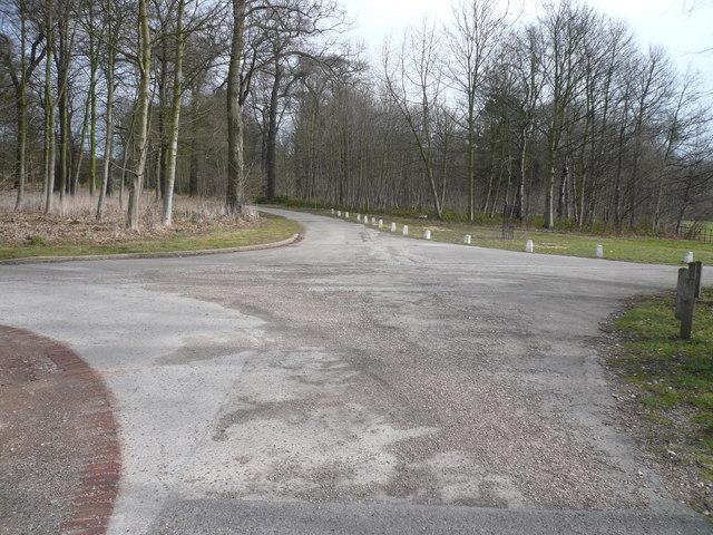 Thoresby Hall - Lane Junction near Car Park