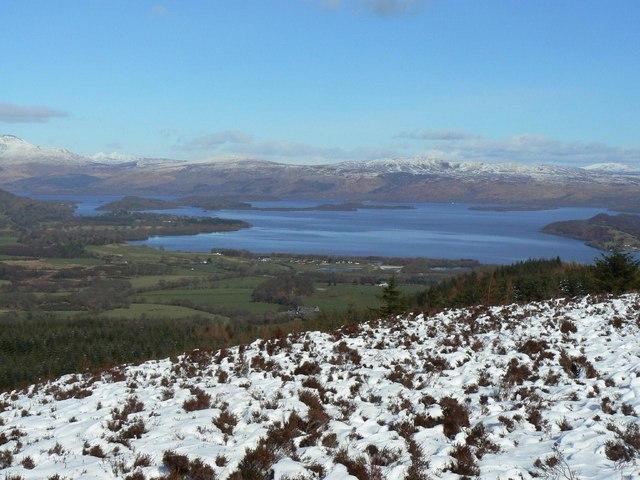 Winter view of Loch Lomond