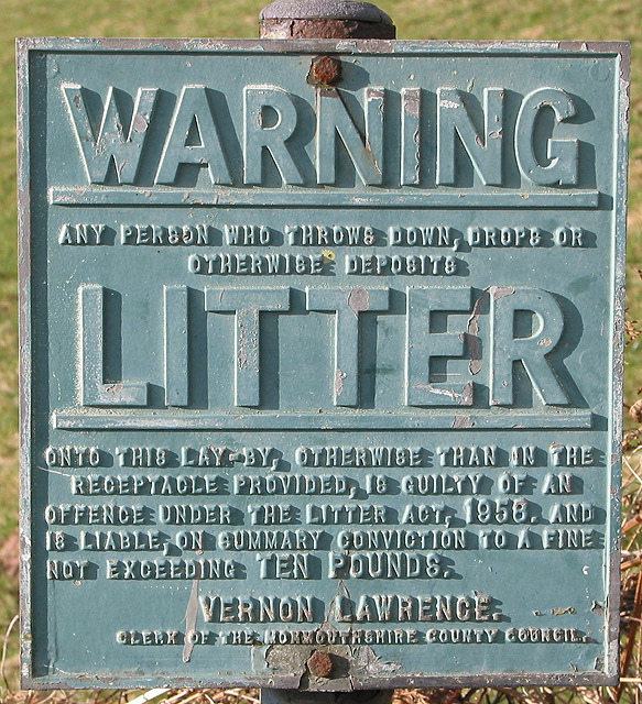 Whatever happened to the 1958 Litter Act?