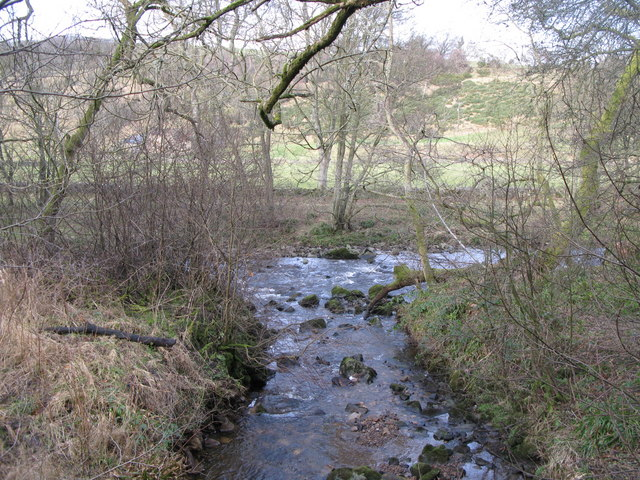 The confluence of Burntongues Burn and the River East Allen