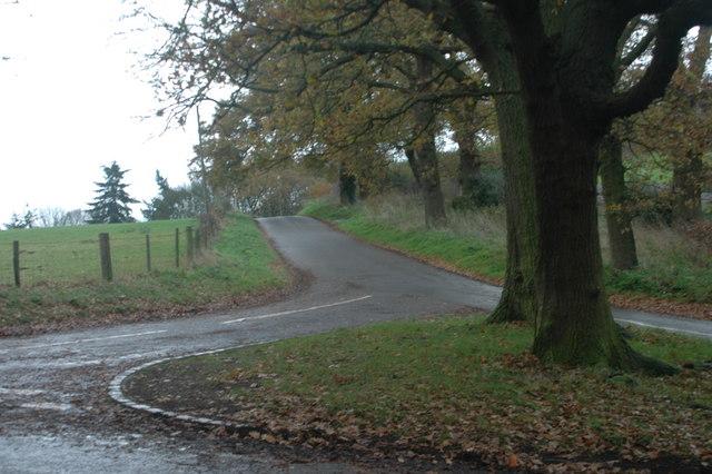 Lane junction near Kinver Common.