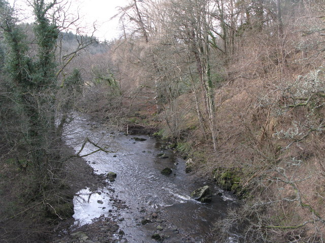 The River East Allen downstream of Oakpool Bridge