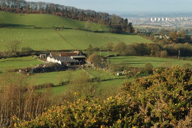 Farmyard from Walton Hill