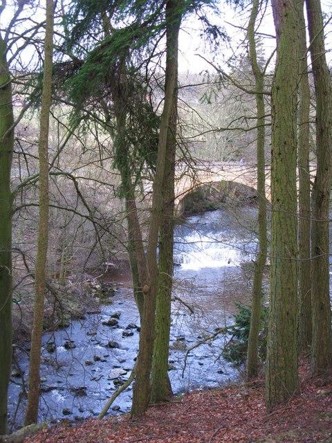The River East Allen below Allenmills Bridge