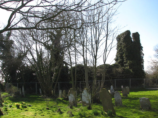 The ruined church of St Margaret
