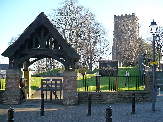 St Woolos Cathedral lychgate and tower