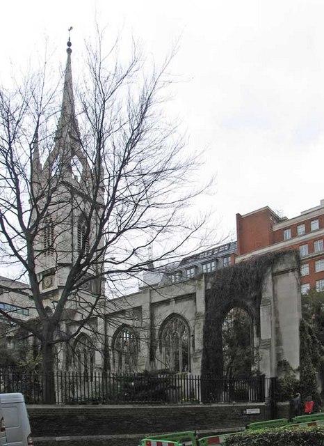 St Dunstan in the East, St Dunstan's Hill, London EC4