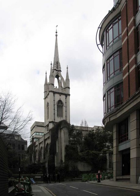 St Dunstan in the East, St Dunstan's Hill, London EC4