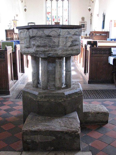 St Mary's church - baptismal font