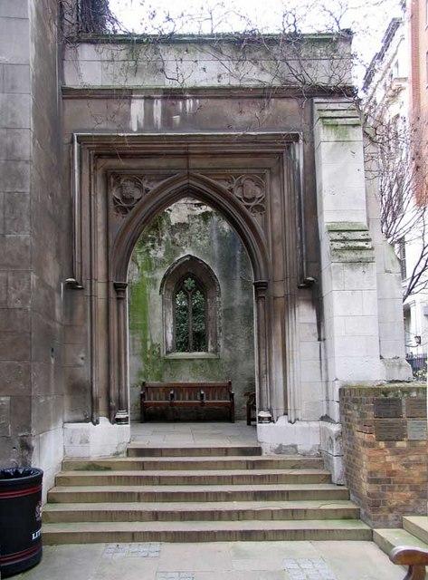 St Dunstan in the East, St Dunstan's Hill, London EC4 - Doorway