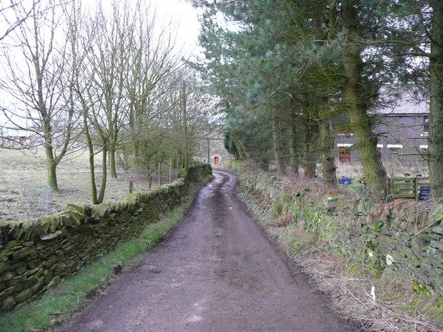 Driveway to Brookside Farm, Townhead, Dunford