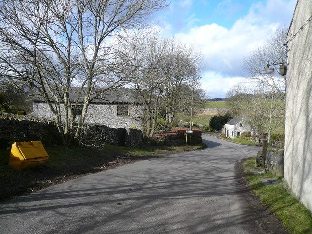 Monyash - Chapel Street  View towards Horse Lane Junction