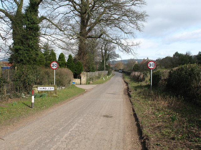 The lane into Thimbleby