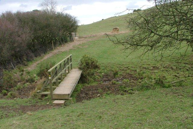 Footbridge Over Grange Beck