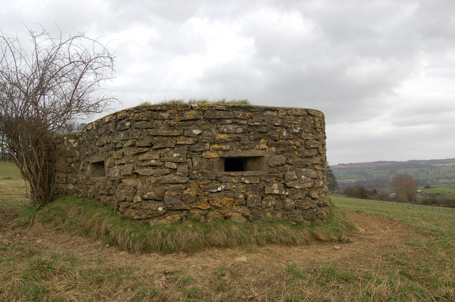World War Two pillbox on Langley Hill, Gloucestershire