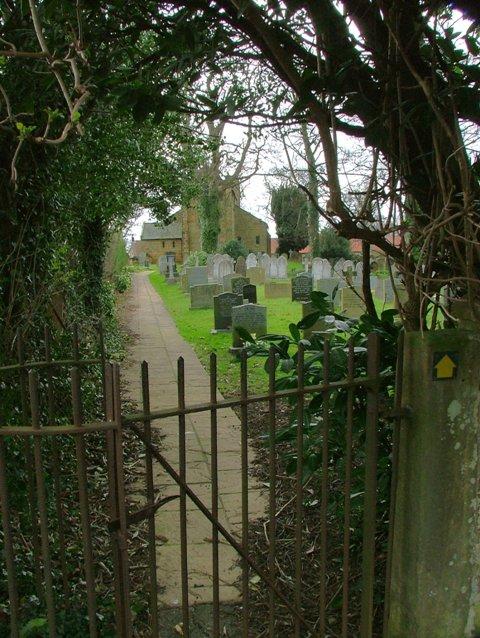Back Way Into St. Augustine's Churchyard