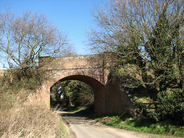 Railway bridge across unnamed country lane