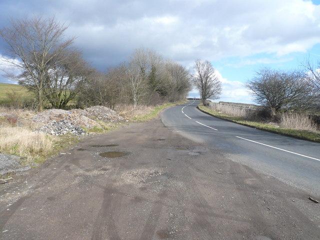 Lay-by View of Monyash Road