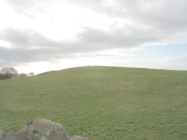 Drumlin topped with a standing stone