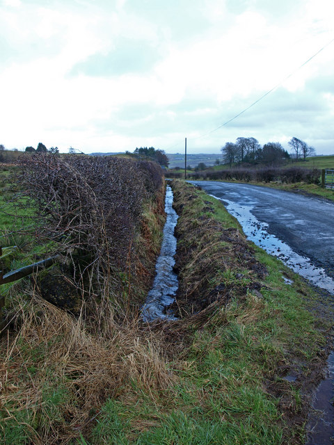 Recently cleared ditch