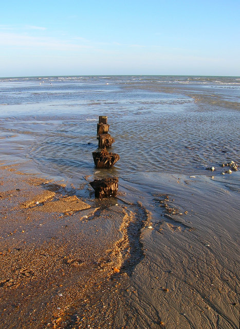 Remains of a Groyne, Lancing Beach