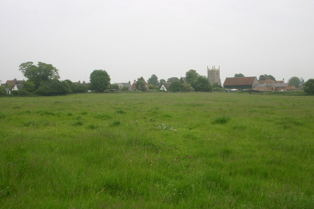 Marsh Gibbon Church from the Bernwood Way