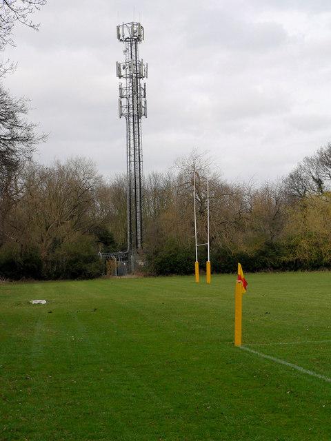Radio Mast at Old Millhillians Rugby Ground Harrow