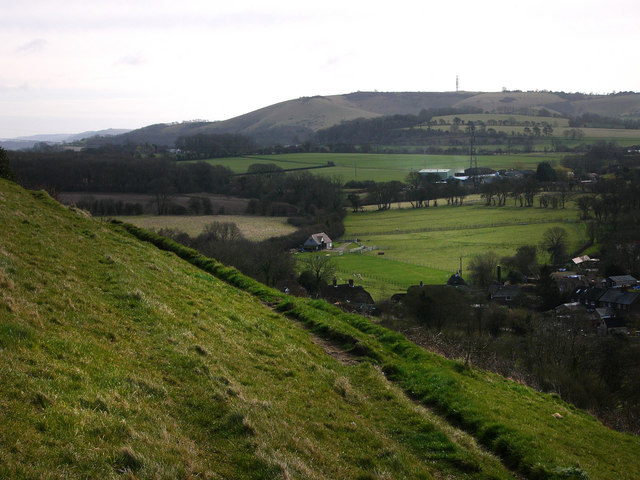 Looking towards Butser Hill from Park Hill, East Meon