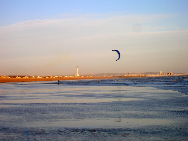 Kitesurfing, Shoreham Beach