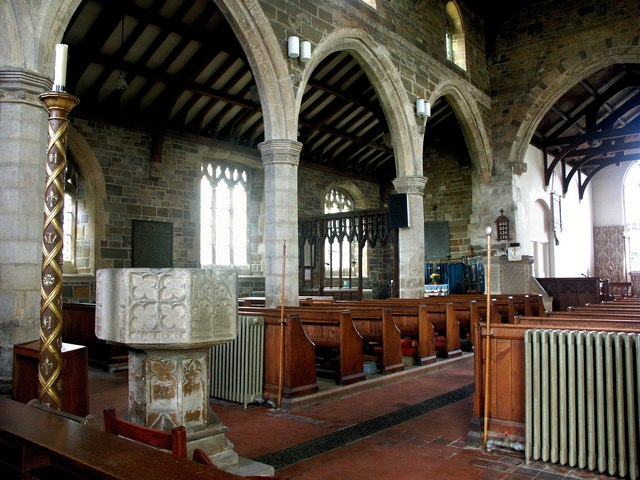 Interior of the Church of St Nicholas, Partney