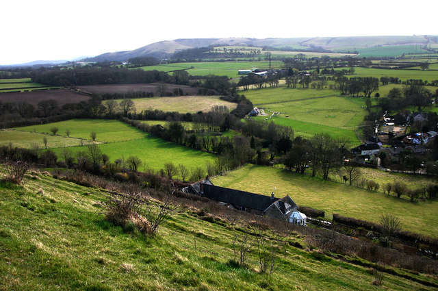 View over Frogmore towards Butser Hill