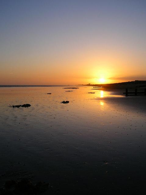 Sunset, Shoreham Beach