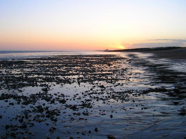 Sunset, Lancing Beach