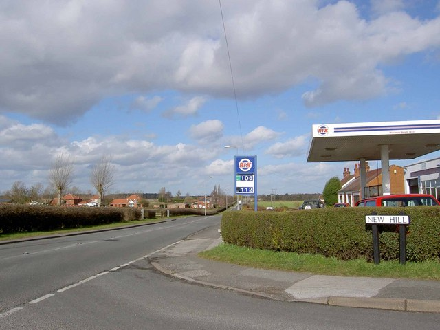 Rix petrol from New Hill Walesby
